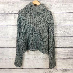 Urban Outfitters cropped turtleneck thick sweater